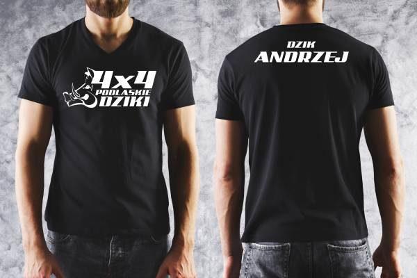 Nadruk na koszulce podlaskie dziki Białystok