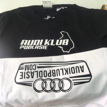 Nadruki na odzieży Audi Klub Podlasie Białystok