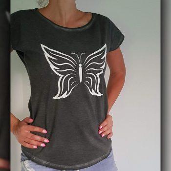 Nadruk na odzieży czarnego motyla Białystok