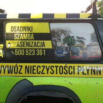 Oklejony samochód wywozu nieczystości Białystok