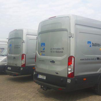 Oklejanie samochodów dostawczych firmy Budrex Kobi Białystok