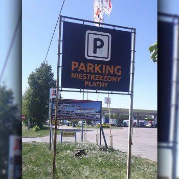 Baner reklamowy niestrzeżonego parkingu Białystok