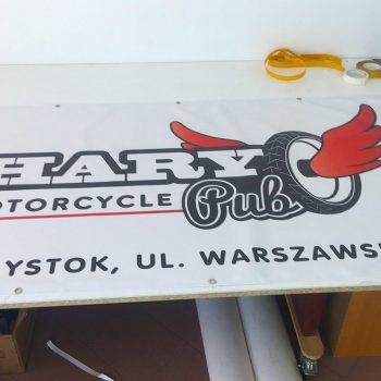 Baner reklamowy motocykli Białystok
