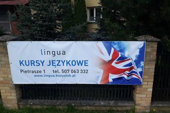 Reklama kursów językowych Białystok