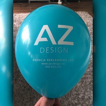 Balon z logo AZ Design Białystok