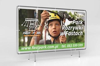 Baner reklamowy parku rozrywki Białystok